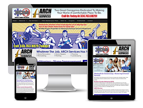 SCM/ARCH Services offer HVAC and home improvement services